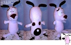 I made this Courage the Cowardly Dog Plush about a year ago. From what I know, no official plushies were ever made of him, so he's one of the only few that exist. Cool huh?