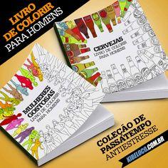 Livro de colorir para homens