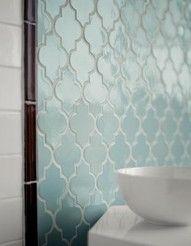 Love the tile shape & color... kitchen back splash ?