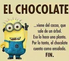 El chocolate es ensalada