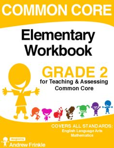 Common Core - Elementary Workbook - Grade 2 - Language Arts & Math Standards from Velerion-Damarke from Velerion-Damarke on TeachersNotebook.com (148 pages)  - This workbook contains not only all the standards for grade 2 in one handy place (English Language Arts & Math), but also nearly 100 worksheets and assessments that have been designed to fit each.