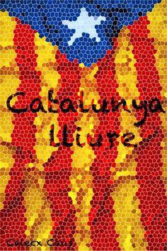 Senyera (flag) of Catalonia, Spain