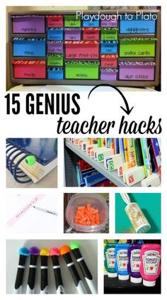 15 Genius Teacher Tips. Store paint in empty ketchup containers, pick up glitter with a lint roller and more.