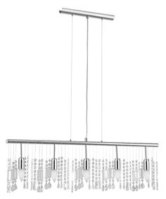 Eglo Lighting's Vitoria Collection (20679A) 5 Light Trestle Hanging Fixture shown in Chrome Finish
