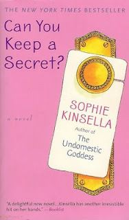 Book 45: Can You Keep a Secret? by Sophie Kinsella.  This was a cute book...Bridget Jones meets Christian Grey without the kinky stuff!!!  LOL!!