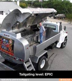 Dream tailgate setup.
