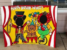 Circus Birthday- Circus Party- Circus Decoration- Circus Photo Prop- Circus Cutout- Ringmaster- Photo Op- Face in Hole- Clown Party- Big Top Carnival Themed Party, Carnival Birthday Parties, Circus Birthday, Carnival Games, Birthday Party Themes, Carnival Costumes, Birthday Ideas, Clown Party, Carnival Photo Booths