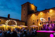 Hochzeitslocation am Abend in der Toskana