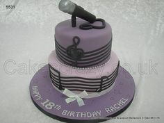 Singers Cake http://www.cakescrazy.co.uk/details/microphone-cake-5531.html