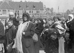 Jewish women and children in front of Crematorium I on the way to Crematorium II for gas chamber death - Auschwitz