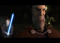 """Anakin Skywalker and Count Dooku in """"Star Wars: The Clone Wars."""" Used with permission from Lucasfilm."""