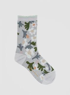 Marguerite Socks Light Grey