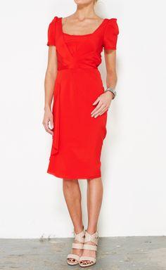 Zac Posen Red Dress | VAUNTE