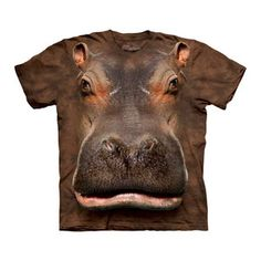 Hippo Head Tee Adult now featured on Fab.