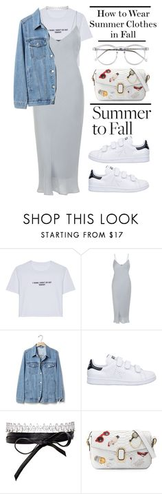 """""""Summer  to Fall"""" by yagmur ❤ liked on Polyvore featuring WithChic, New Look, Gap, adidas, Fallon, Marc Jacobs, Wildfox, HowToWear and summertofall"""