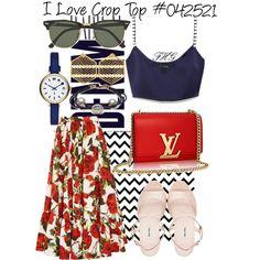 I Love Crop Top #042521 by fashionhuntergirl on Polyvore featuring Marc Jacobs, Dolce&Gabbana, Miu Miu, Kasturjewels, Ray-Ban, Alima and croptop