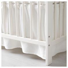 IKEA - LEN Crib skirt white