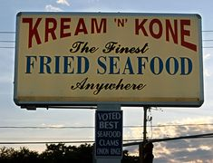 Kream 'n' Kone, West Dennis MA. Great fried Seafood, sadly no longer there. But we had good times there!