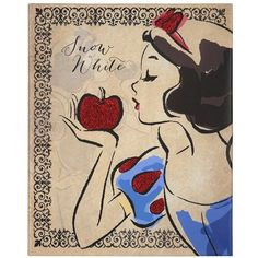 Fashionista Snow White Canvas Art Print (20 CAD) ❤ liked on Polyvore featuring home, home decor, wall art, art, backgrounds, disney, snow white, disney home decor, apple home decor and canvas wall art