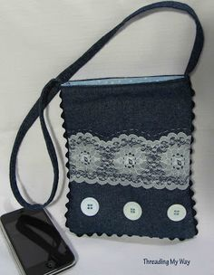 Threading My Way: Denim and Lace...