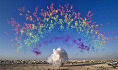 "Cai Guo-Qiang's ""Black Ceremony - Rainbow,"" 2011"