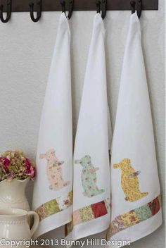 Bunny Kitchen Towels - Quilting Digest