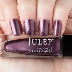Rosewood shimmer nail polish