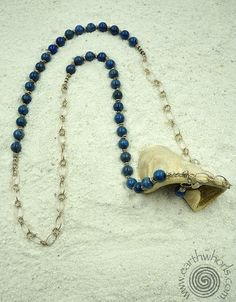 Denim Lapis & Sterling Silver Necklace