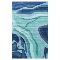 Ebern Designs Kaye Abstract Hand-Tufted Teal/Dark Blue Area Rug Rug Size: Rectangle x Teal Rug, Navy Blue Area Rug, Blue Area Rugs, Contemporary Area Rugs, Modern Contemporary, Modern Design, Hand Tufted Rugs, Indoor Rugs, Throw Rugs