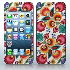 Russian Folklore #2  Flower motif pattern  phone skin sticker for Cell Phones / Apple iPhone 5/5G | $7.95