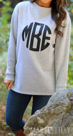 Monogrammed Crewneck Sweatshirts now $20 OFF! Hurry offer ends 10.27