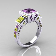 A perfect ring for LSU college sweathearts! aw