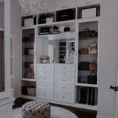 Walk In Closet Design, Closet Designs, Master Closet Design, Closet Vanity, Closet Mirror, Chandelier In Closet, Closet Lighting, Dressing Room Design, Dressing Room Closet