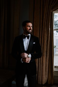 Black tie wedding at Down Hall // Jake looking dapper in his tuxedo courtesy of Waterers of St Albans. Image by Sally Rawlins Photography. Black Tie Wedding, Wedding Groom, St Albans, Looking Dapper, Groom Style, Tuxedo, Sally, Wedding Styles, The Incredibles