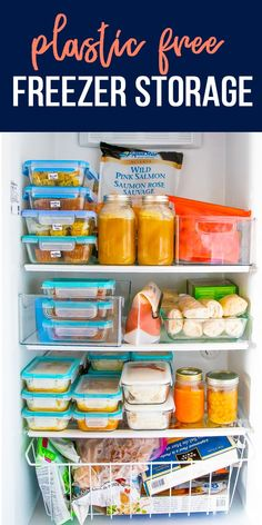 Sharing my favorite ways to avoid plastic in the freezer! With a few helpful products and strategies, you can drastically reduce your dependency on single-use products. Freezer Hacks, Freezer Storage, Freezer Burn, Freezer Organization, Crock Pot Freezer, Freezer Cooking, Food Storage, Storage Ideas, Organization Ideas