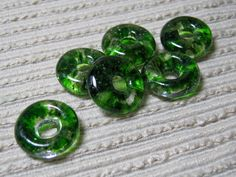 Make something SuperCute #handmade #emeraldgreen #lifesaverbeads for your own #unique Jewelry Designs  https://www.etsy.com/listing/246074759/made-to-order-handmade-cast-glass-beads