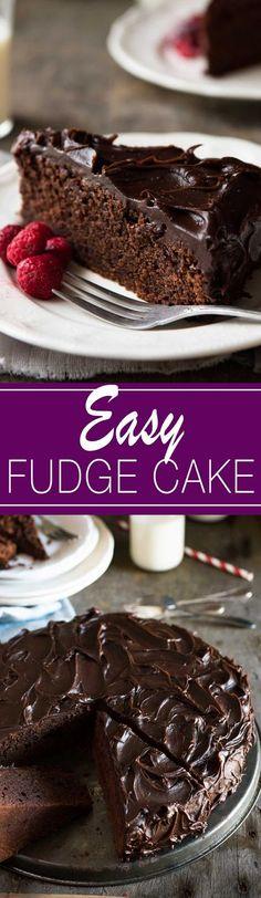 Easy Chocolate Fudge Cake | Cake And Food Recipe