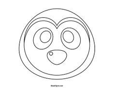 Printable Animal Mask, Halloween Mask, Lemur Mask, Paper
