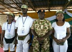 The Director-General Brigadier General Sulaiman Kazaure has given cash rewards to three Corps members for returning large sums of money found at the NYSC Permanent Orientation Camp in Benue State.  They are Eno Sunday Jesam (BN/17A/1536) Ezenwa Chidera (BN/17A/1718) and Timothy Deborah Elewechi (BN/17A/2233).  Presenting them to the Director-General during his visit to the camp the NYSC State Coordinator Mrs. Eno AwakEssien said Jesam found and returned N27500 to the Camp Management while…