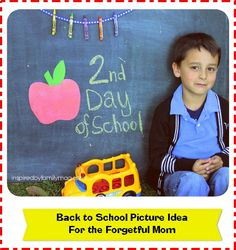 back to school picture idea
