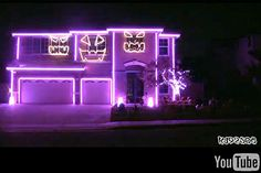Halloween house lights