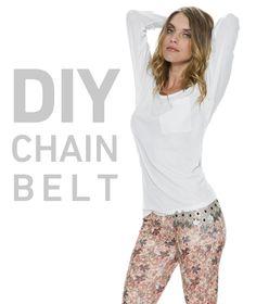 DIY chain belt. http://blog.swell.com/DIY-Chain-Belt