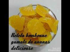 Bomboane gumate cu gust de ananas