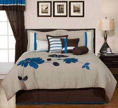 #FDdreamhome Love Chocolate and teal in bedding on ebay