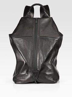 Phillip Lim - Drop Down Backpack designer-backpacks Leather Fashion, Leather Men, Leather Bags, Rucksack Backpack, Leather Backpack, Fashion Plates, Fashion Bags, Pack Up And Go, Designer Backpacks