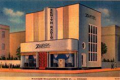 Venta de radios ZENITH. Chicago, década del 30.