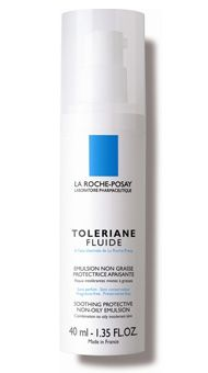 La Roche-Posay Toleriane Facial Fluid // Though formulated for extremely sensitive, oily skins, it doubles as a moisturizing serum on dry skin. The minimalist formula is stripped bare as possible.