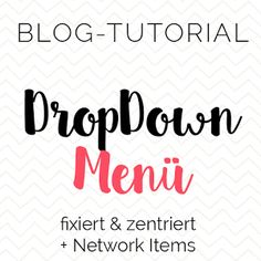Misses Cherry: Blog-Tutorial: DropDown Menü