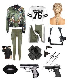 """🃏"" by lilo-g on Polyvore featuring Dsquared2, Boohoo, rag & bone/JEAN, Keds, Black and Lime Crime"