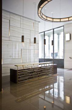 modern hotel Lobby decor always need a luxu - hotel Lobby Interior, Office Interior Design, Home Interior, Interior Modern, Luxury Interior, Reception Desk Design, Hotel Reception, Office Reception Desks, Reception Counter
